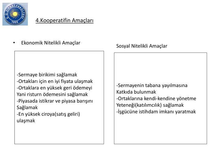 4.Kooperatifin Amalar