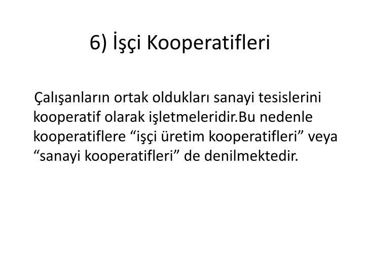 6) i Kooperatifleri