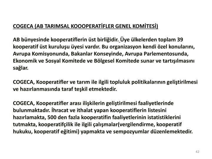 COGECA (AB TARIMSAL KOOOPERATFLER GENEL KOMTES)