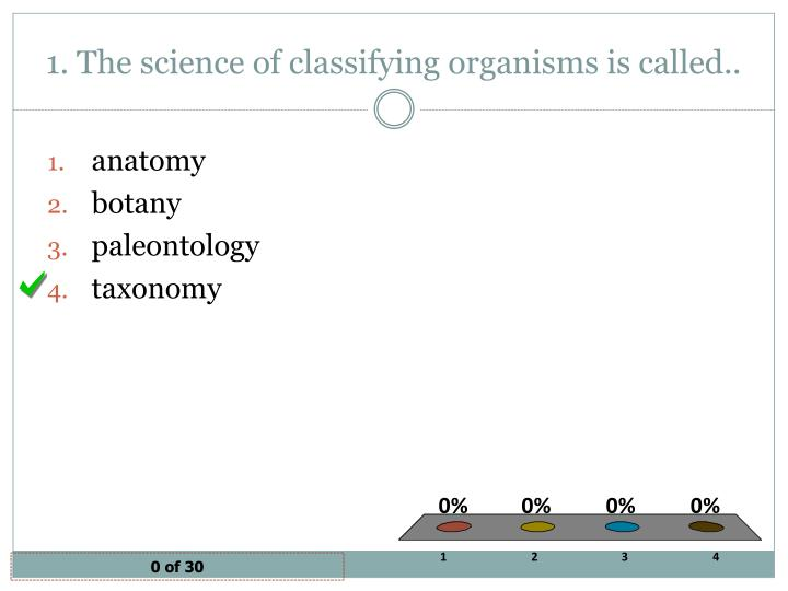 1 the science of classifying organisms is called