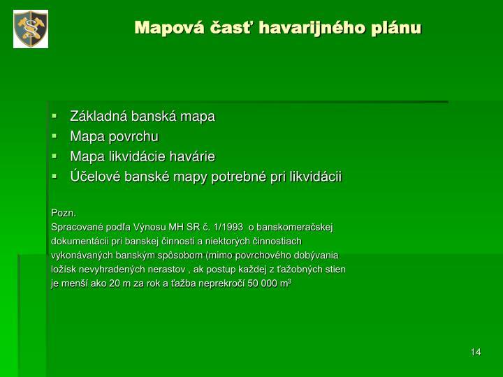 Mapová časť havarijného plánu