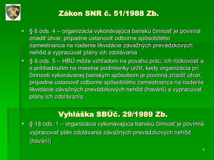 Zákon SNR č. 51/1988 Zb.