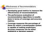 effectiveness of recommendations1