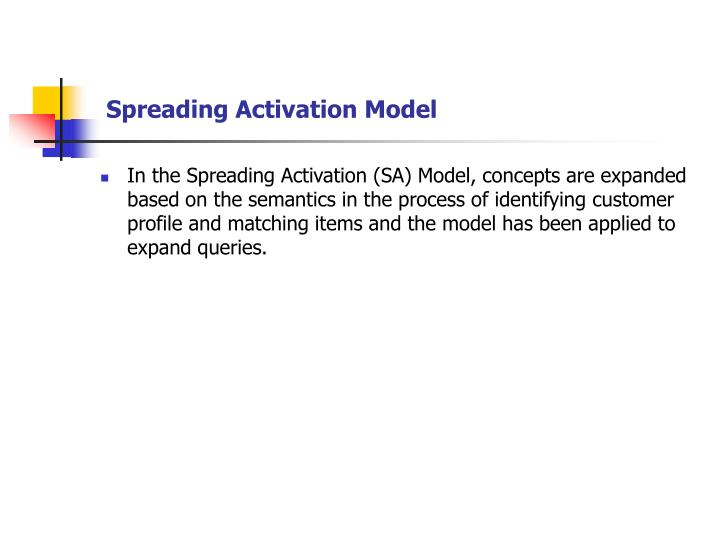 Spreading Activation Model