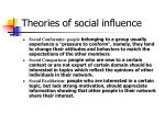 theories of social influence