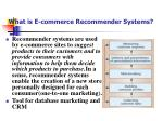 what is e commerce recommender systems