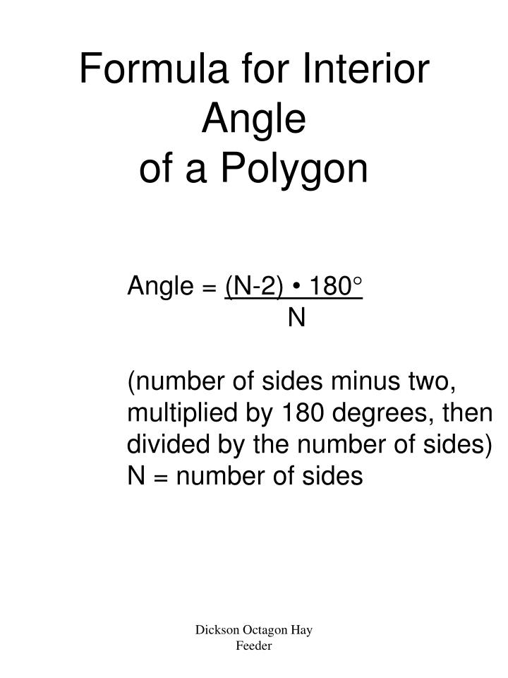 Interior angle formula pictures to pin on pinterest pinsdaddy for Exterior angles of a polygon formula