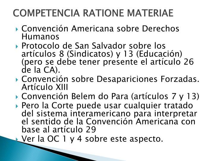 COMPETENCIA RATIONE MATERIAE