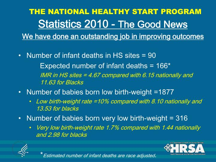 THE NATIONAL HEALTHY START PROGRAM
