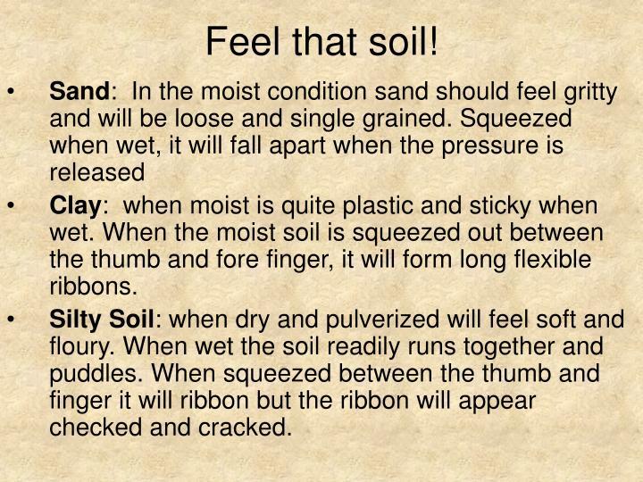 Feel that soil!
