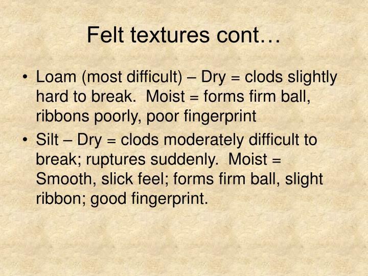 Felt textures cont…
