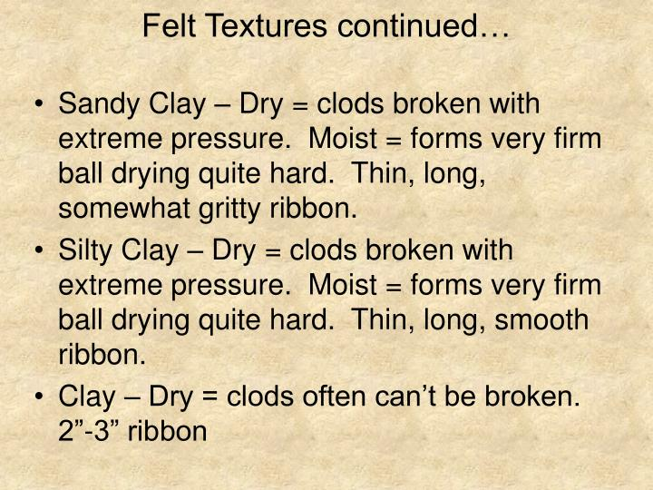 Felt Textures continued…