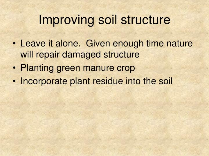 Improving soil structure