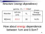 structure energy dependence