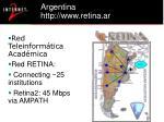 argentina http www retina ar