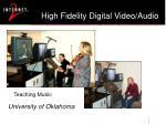 high fidelity digital video audio