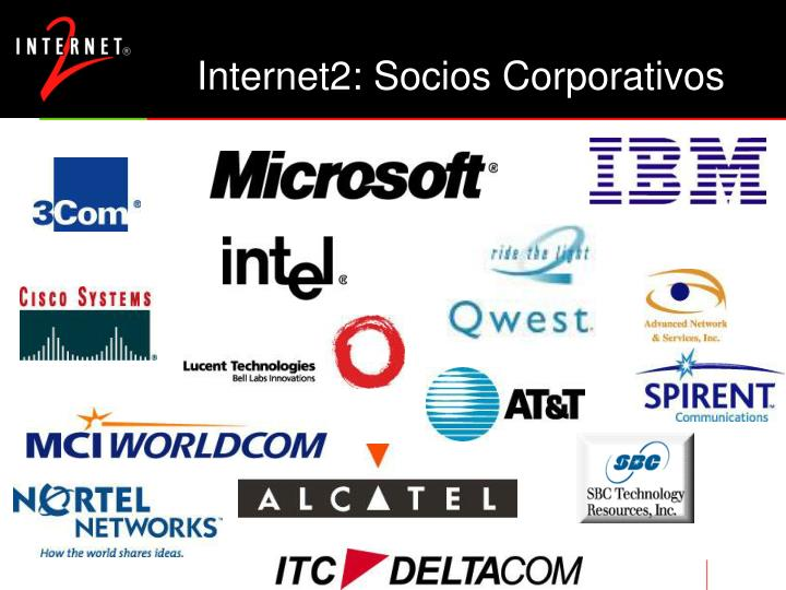 Internet2: Socios Corporativos