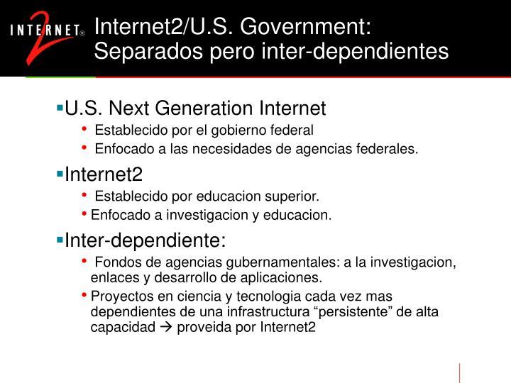 Internet2/U.S. Government: