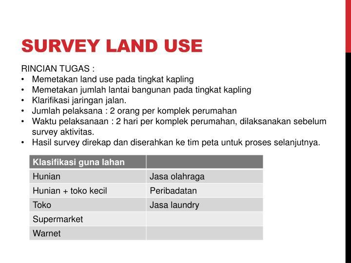 SURVEY LAND USE