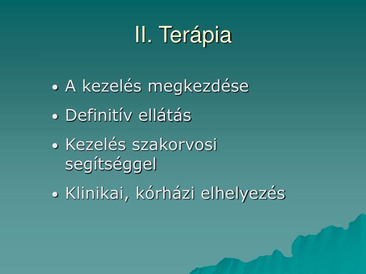 II. Terápia