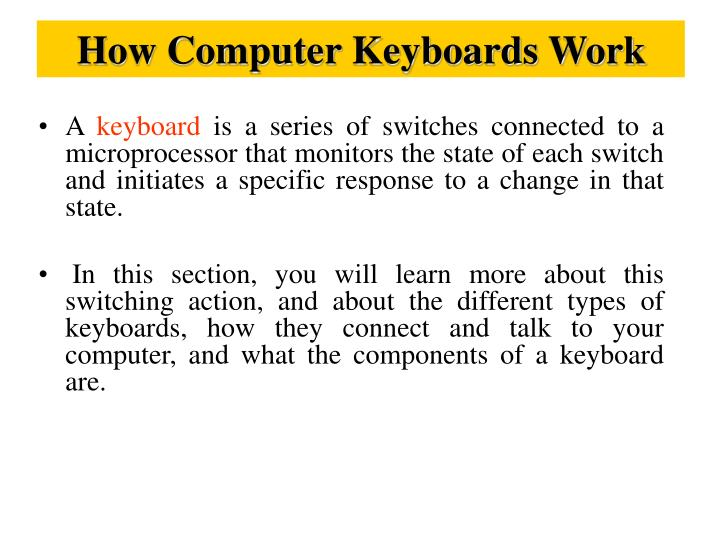 How Computer Keyboards Work