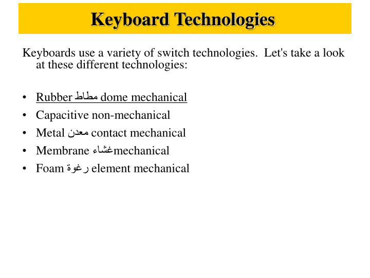 Keyboard Technologies