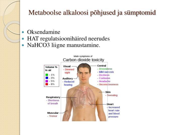 Metaboolse alkaloosi põhjused ja sümptomid