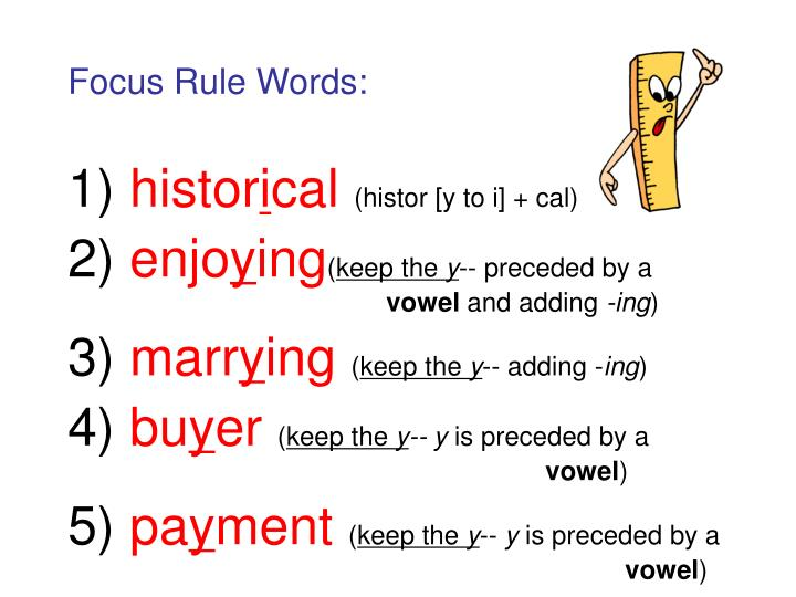 Focus Rule Words: