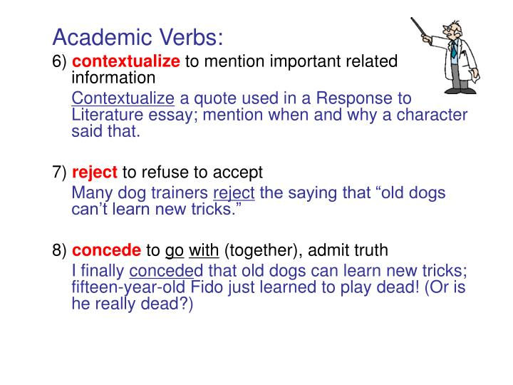 Academic Verbs: