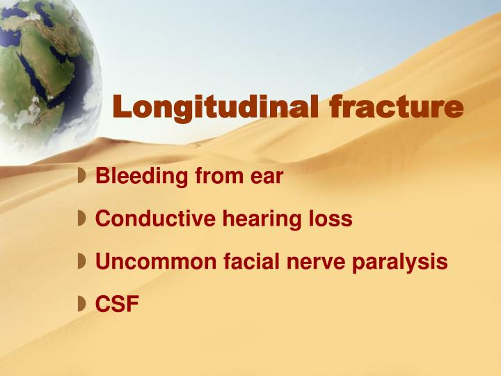 Longitudinal fracture