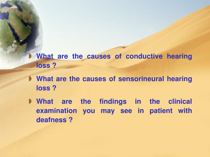 What are the causes of conductive hearing loss ?