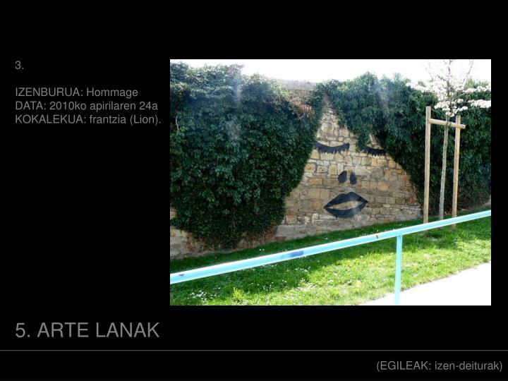 5. ARTE LANAK