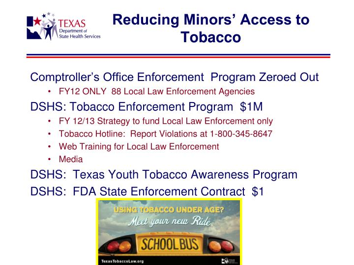 Reducing Minors' Access to Tobacco