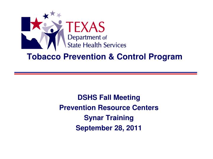 Tobacco prevention control program