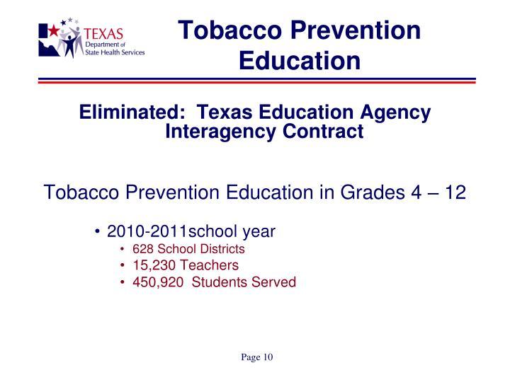Tobacco Prevention Education