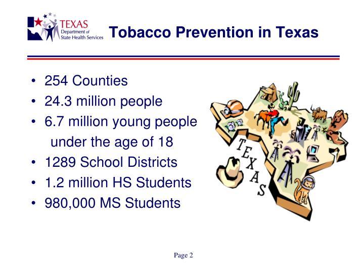 Tobacco Prevention in Texas