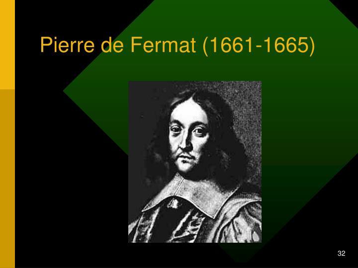 Pierre de Fermat (1661-1665)