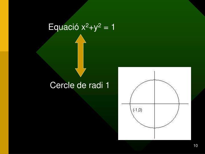 Equació x