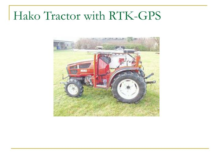 Hako Tractor with RTK-GPS