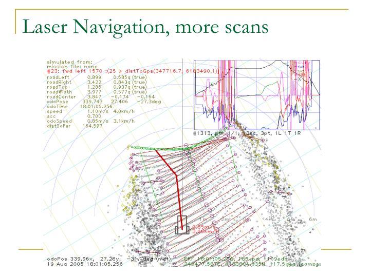 Laser Navigation, more scans