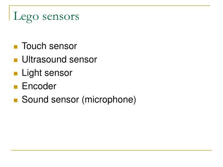 Lego sensors
