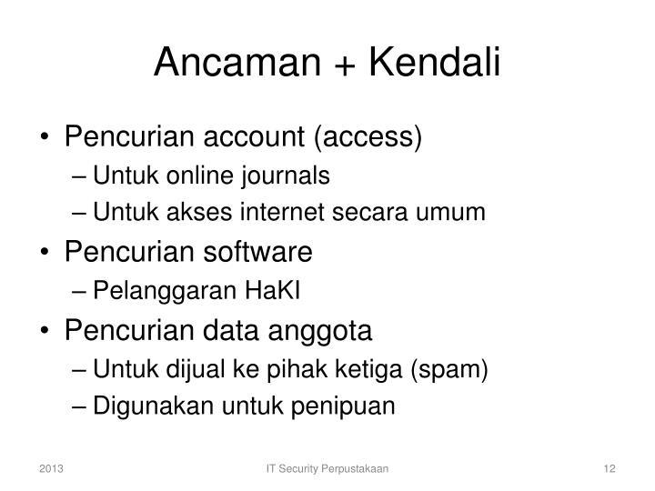 Ancaman + Kendali