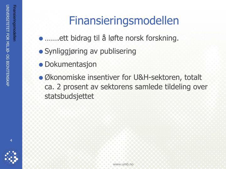 Finansieringsmodellen