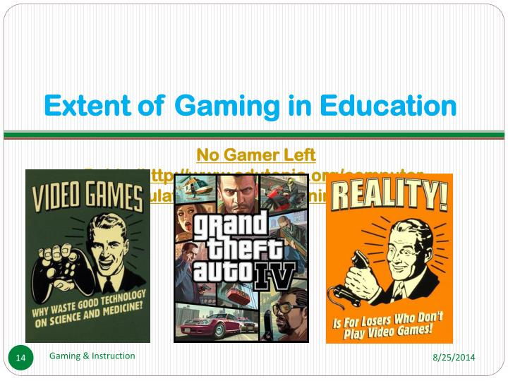 Extent of Gaming in Education