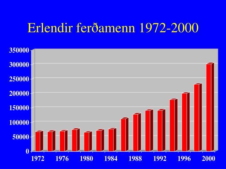 Erlendir ferðamenn 1972-2000