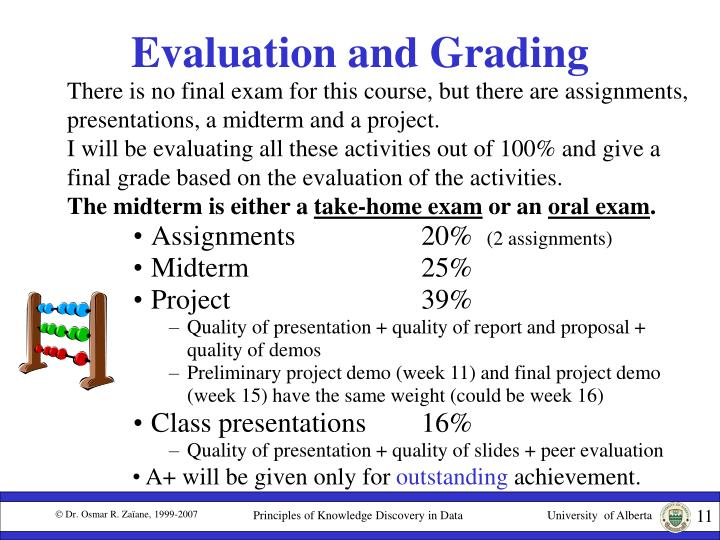 Evaluation and Grading
