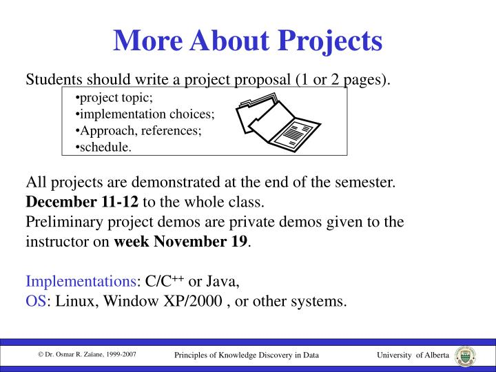 More About Projects
