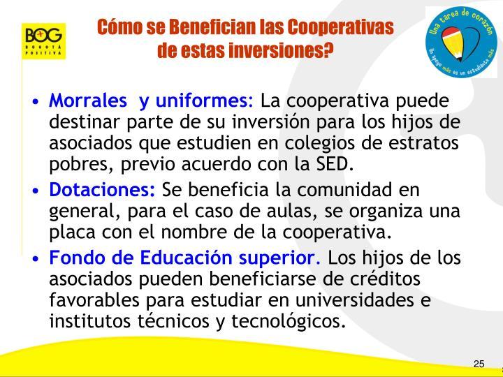 Cómo se Benefician las Cooperativas