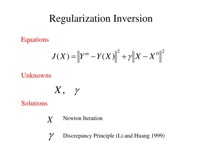 Regularization Inversion