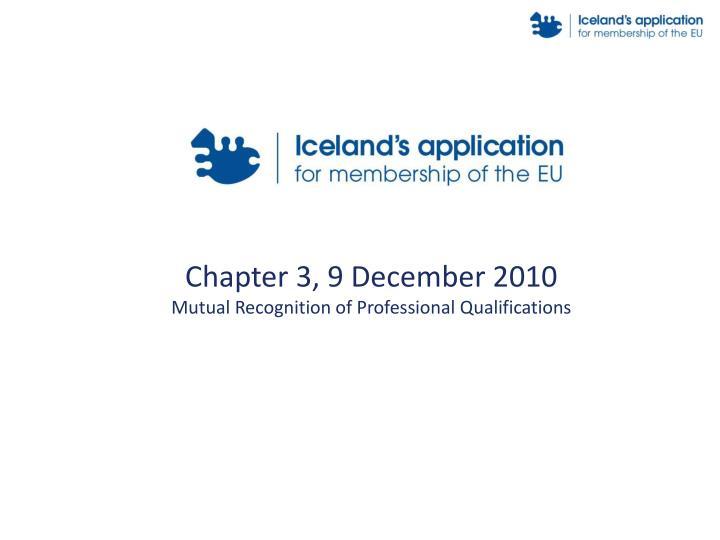 Chapter 3, 9 December 2010